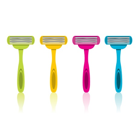 vector razors icon isolated on white, disposable razor.