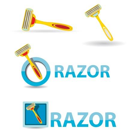 vector razor icon isolated on white, disposable razor. Stock Vector - 25118265