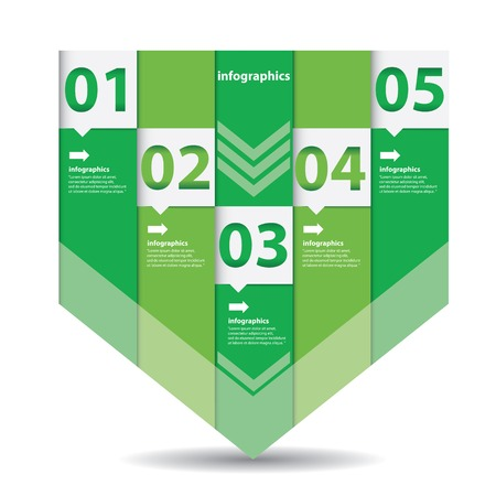 Modern flat  infographics or numbered banners Vector