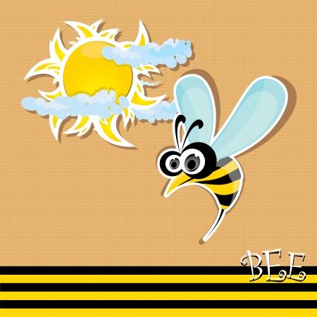 vector bee icon. vector summer illustration. Vector
