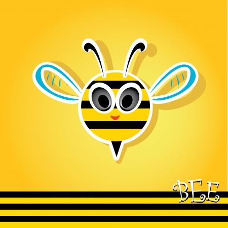 vector bee icon. cartoon cute bright baby bee. Vector