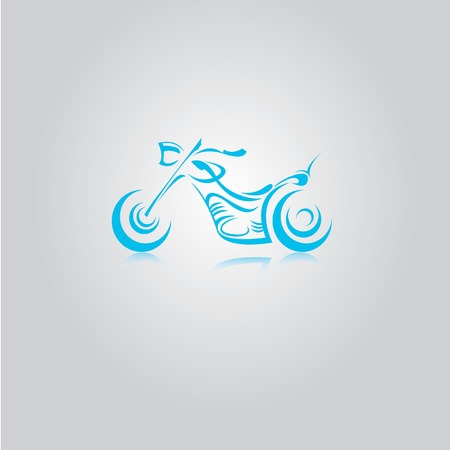 vector Silhouette of classic motorcycle. vector motorcycle icon Vector