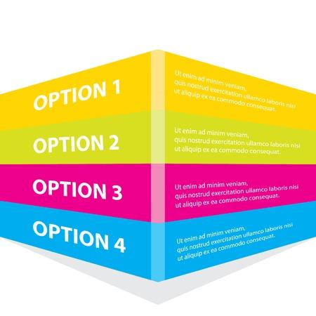 color paper: elecci�n o versiones de productos de color Documento de Progreso Vectores