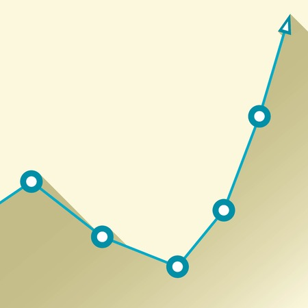 Business graph and chart illustration Vector