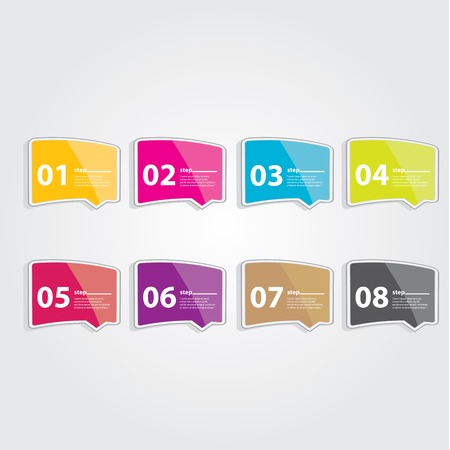 Color Modern Design glossy banners template Vector