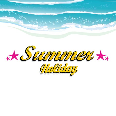 vector hello summer illustration. Vector