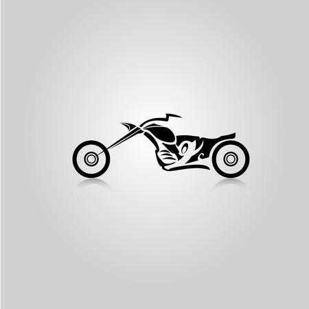 古典的なオートバイのシルエットをベクターします。ベクター オートバイ アイコン