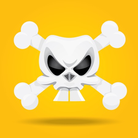 pirate sign or label. jolly roger symbol Vector