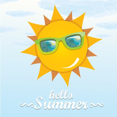 vector summer illustration. summer holiday kids background. Vector
