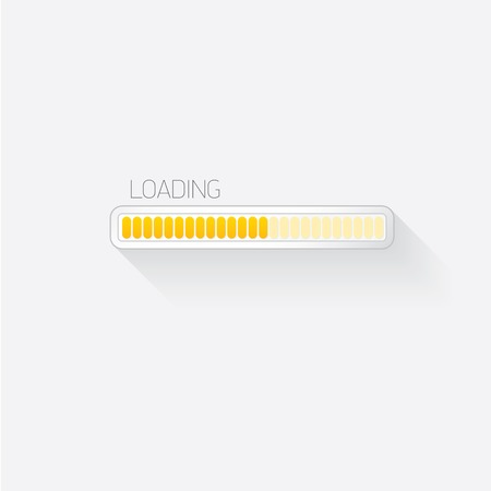 status bar progress icon template for app or web site Vector