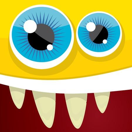 eccentric: Vector Cartoon orange monster face
