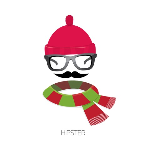 hipster icon Fashion silhouette Vector