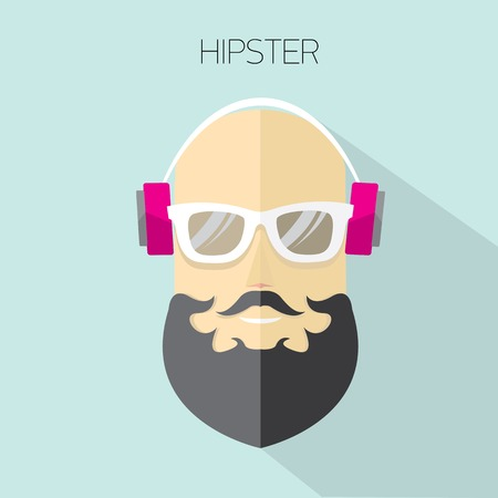 vector hipster man icon  hipster style Vector