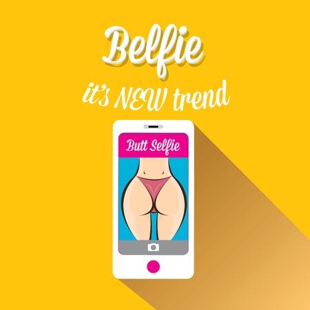 Taking Belfie Photo on Smart Phone Фото со стока - 30606745