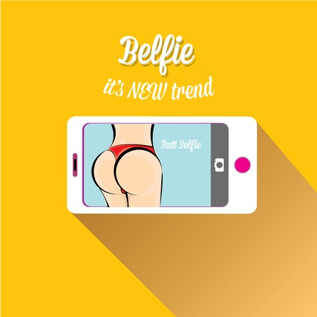 Taking Belfie Photo on Smart Phone