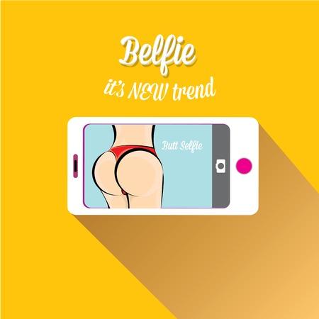 Taking Belfie Photo on Smart Phone Фото со стока - 30606749