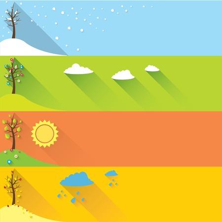 vector banner - four seasons Vector
