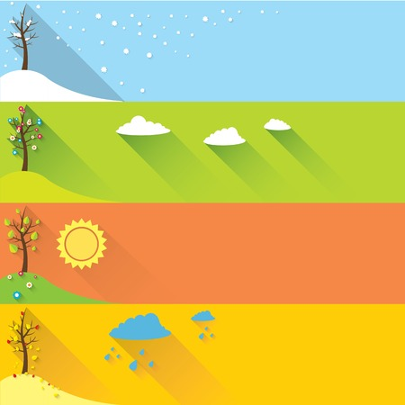 vector banner - four seasons Ilustracja