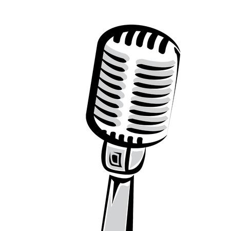 retro microphone silhouette