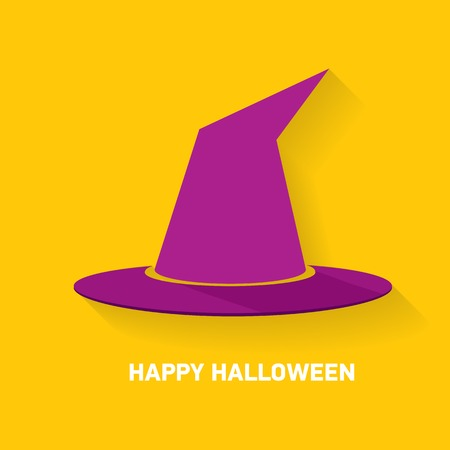 tall hat: tall witch hat on orange background