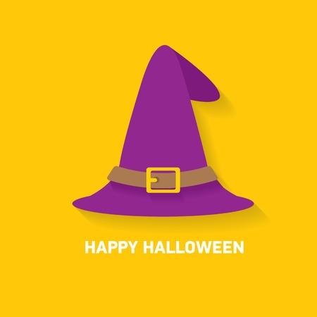 wizard: tall witch hat on orange background