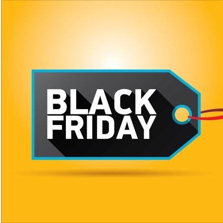 Black Friday sales tag. vector illustration Illusztráció