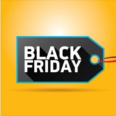 Black Friday sales tag. vector illustration Illustration