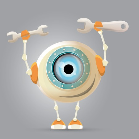 robot cartoon: Cartoon Character Cute Robot