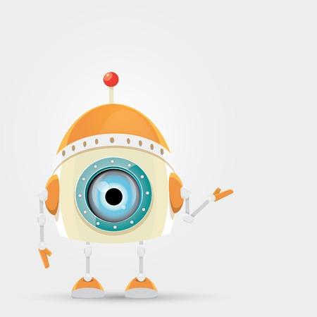 robot: Personaje de dibujos animados lindo del robot