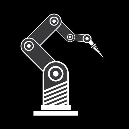 symbol robot: vector robotic arm symbol. robot hand