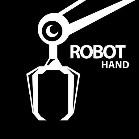 robot: vector símbolo brazo robótico. robot mano