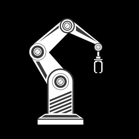 robot: wektor ramię robota symbol. Ręka robota