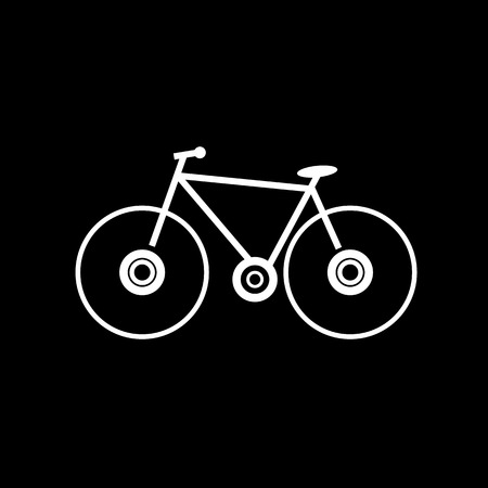 bicycle wheel: bicycle bike silhouette vector icon