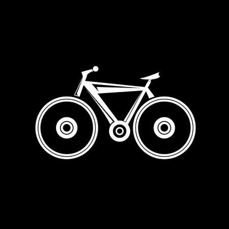 sport icon: bicycle bike silhouette vector icon