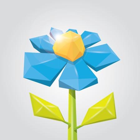 heyday: Conceptual polygonal color spring flower.