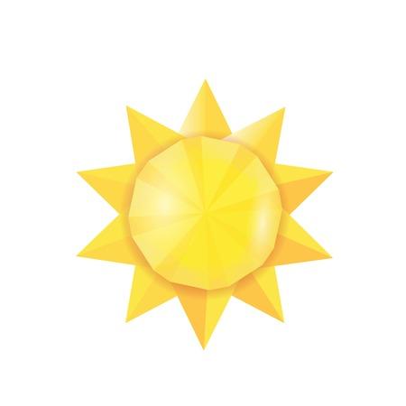 Sun icon . Vector illustration Illustration
