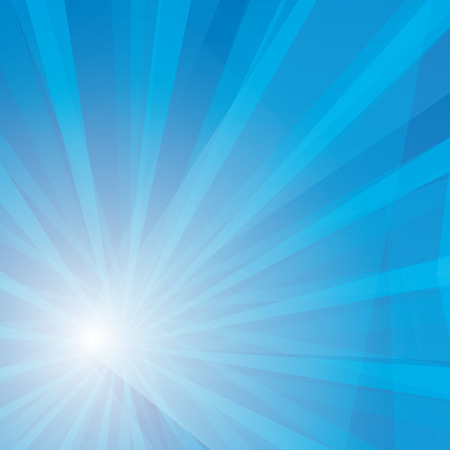 ray of light: Vector shiny blue sky background with ray of light