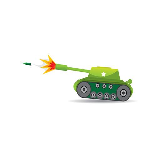 tanque de guerra: tanque del ejército del vector. tanque militar. máquina ejército.