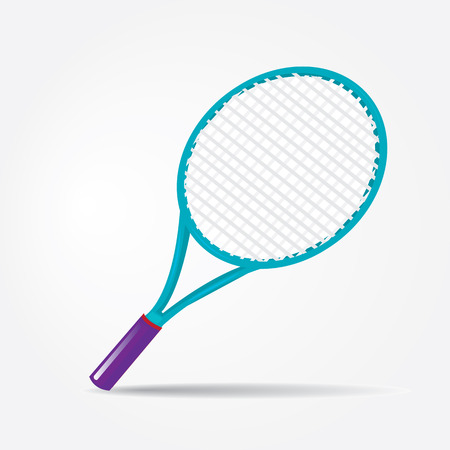 sport equipment: vector sport equipment. tennis racket.