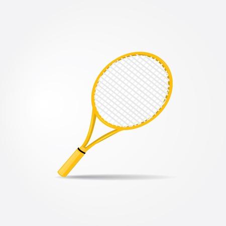 raqueta de tenis: equipamiento deportivo vector. raqueta de tenis.
