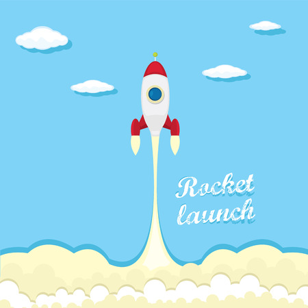 vintage style retro poster of Rocket launcher. Vector