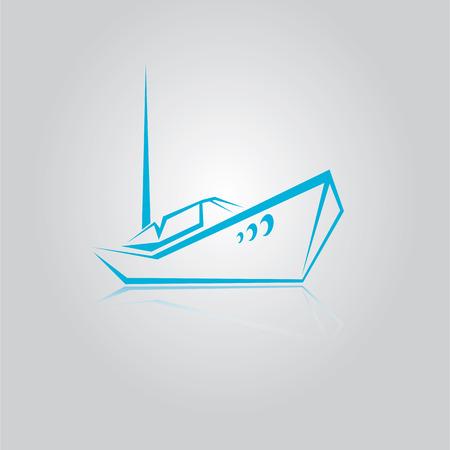 deportes nauticos: icono yate vector Vectores