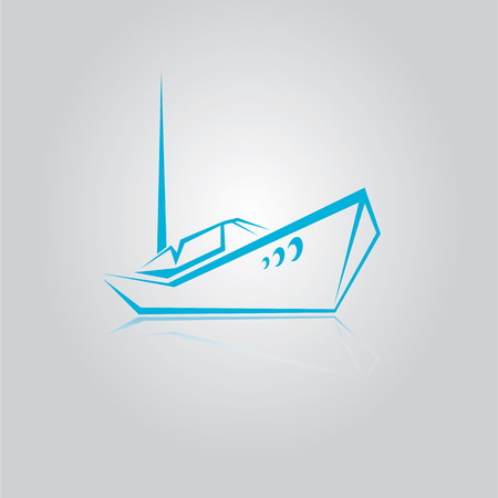 vector yacht icon Vector