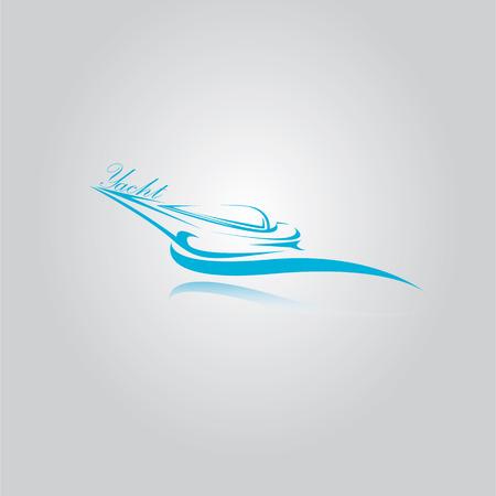luxury yacht: vector yacht icon