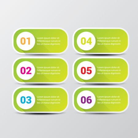 clean modern green digital Infographic banners. Vector