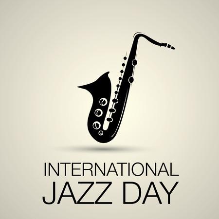 jazz singer: International jazz day vector