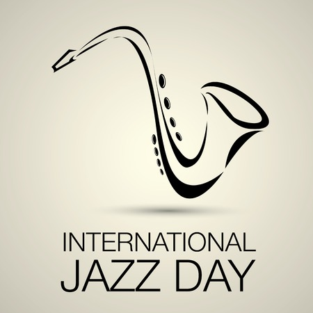 popular music: International jazz day vector