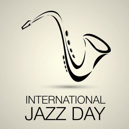 saxofón: Jazz Internacional del vector del día Vectores
