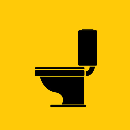 Vector Toilet symbool. toilet ondertekenen Stockfoto - 39207985