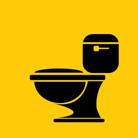 inodoro: vector símbolo WC. Muestra del tocador Vectores